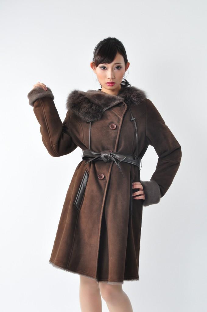 モデル毛皮の撮影コート