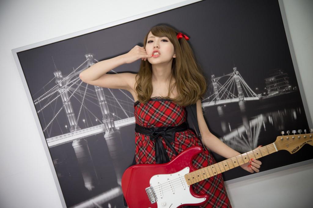 モデル撮影ギター