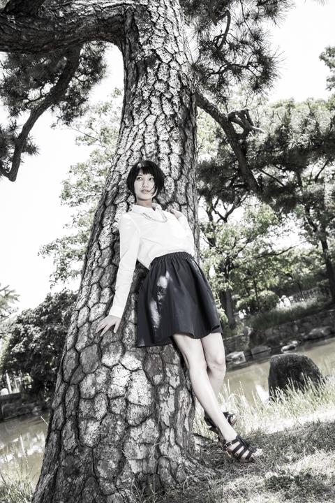 七瀬美穂、モデル撮影
